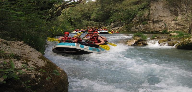 rafting greece